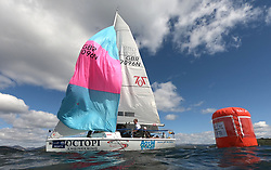 Pelle P Kip Regatta 2019 Day 1<br /> <br /> Light and bright conditions for the opening racing on the Clyde keelboat season<br /> <br /> GBR7096N, Autism on the Water, Murray MacDonald, PEYC, OSC, RNCYC, Hunter 707 OD