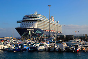 "Large German cruise ship ""Mein Schiff 4' at Puerto del Rosario, Fuerteventura, Canary Islands, Spain"