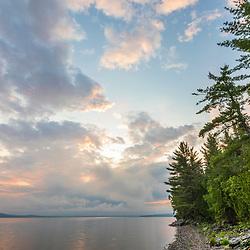 The shoreline of Square Lake in Square Lake Township, Maine.