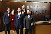 SHOT 1/8/19 12:14:38 PM - Bachus & Schanker LLC lawyers James Olsen, Maaren Johnson, J. Kyle Bachus, Darin Schanker and Andrew Quisenberry in their downtown Denver, Co. offices. The law firm specializes in car accidents, personal injury cases, consumer rights, class action suits and much more. (Photo by Marc Piscotty / © 2018)
