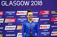 Podium, Women Omnium, Letizia Paternoster (Italy) bronze medal, during the Track Cycling European Championships Glasgow 2018, at Sir Chris Hoy Velodrome, in Glasgow, Great Britain, Day 5, on August 6, 2018 - Photo luca Bettini / BettiniPhoto / ProSportsImages / DPPI<br /> - Restriction / Netherlands out, Belgium out, Spain out, Italy out -