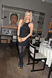 LAURA WHITMORE at a dinner hosted by Marlon & Nadya Abela at Cassis 232-236 Brompton Road, London to thank customers & friends for their custom held on 9th February 2012.