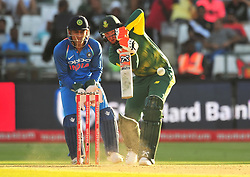 Cape Town-180207 South African betsman David Miller betting against India  in a ODI game at Newlands stadium .photograph:Phando Jikelo/African News Agency(ANA)