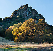 The Peace Valley tract of the Sutter Buttes was purchased from private ranchers in 2003 by California Department of Parks and Recreation for a future state park. The Sutter Buttes, notable as the world's smallest mountain range (10 miles across), are a small circular complex of eroded volcanic lava domes which rise above the flat plains of the Sacramento Valley (the northern part of the Central Valley of California, USA), just outside of Yuba City. The highest peak, South Butte, reaches about 2,130 feet (650 m) above sea level. The Buttes formed over 1.5 million years ago by a now-extinct volcano. They are named for John Sutter, who received a large land grant from the Mexican government.