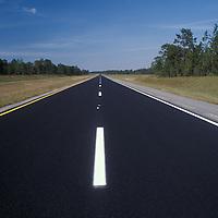 Asphalt Roadway, center stripe