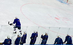 Players during practice session of Slovenian National Ice Hockey team first time in Arena Stozice before 2012 IIHF World Championship DIV I Group A in Slovenia, on April 13, 2012, in Arena Stozice, Ljubljana, Slovenia. (Photo by Vid Ponikvar / Sportida.com)