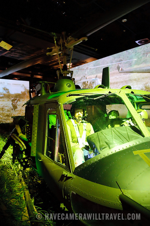 Vietnam helicopter display at the Australian War Memorial in Canberra, ACT, Australia