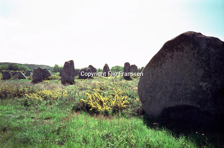 Frankrijk, Carnac, 15-10-1997De mysterieuze stenen formaties van Carnac .Foto: Flip Franssen