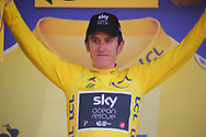 Podium, Geraint Thomas (GBR - Team Sky) Yellow jersey during the 105th Tour de France 2018, Stage 16, Carcassonne - Bagneres de Luchon (218 km) on July 24th, 2018 - Photo Kei Tsuji / BettiniPhoto / ProSportsImages / DPPI