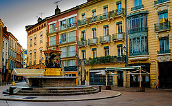 Fountain in the Place de la Trinité, Toulouse, France<br /> <br /> (c) Andrew Wilson | Edinburgh Elite media