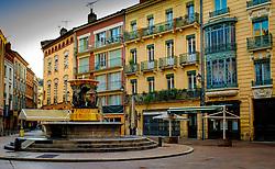 Fountain in the Place de la Trinité, Toulouse, France<br /> <br /> (c) Andrew Wilson | Edinburgh Elite media