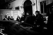 Angelino Alfano esce da Palazzo Chigi, dopo aver partecipato al primo Consiglio dei Ministri del governo Renzi. Roma, 22 febbraio 2014. Christian Mantuano / OneShot