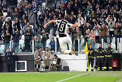 October 25, 2017 - Turin, Italy - Gonzalo Higuain (Juventus FC) celebraes after scoring during  the Serie A football match between Juventus FC and S.P.A.L. 2013 on 25 October 2017 at Allianz Stadium in Turin, Italy. But soon after the referee decides to cancel his goal. (Credit Image: © Massimiliano Ferraro/NurPhoto via ZUMA Press)