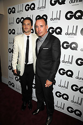 Left to right, BRANDON FLOWERS and DAVID FURNISH at the GQ Men of the Year Awards held at the Royal Opera House, London on 2nd September 2008.<br /> <br /> NON EXCLUSIVE - WORLD RIGHTS