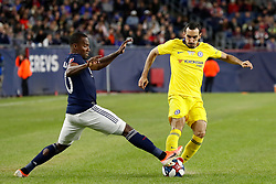May 15, 2019 - Foxborough, MA, U.S. - FOXBOROUGH, MA - MAY 15: New England Revolution forward Cristian Penilla (70) stops Chelsea FC defender Davide Zappacosta (21) during the Final Whistle on Hate match between the New England Revolution and Chelsea Football Club on May 15, 2019, at Gillette Stadium in Foxborough, Massachusetts. (Photo by Fred Kfoury III/Icon Sportswire) (Credit Image: © Fred Kfoury Iii/Icon SMI via ZUMA Press)