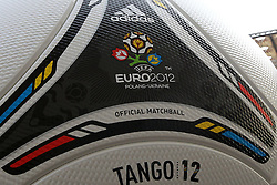 02.12.2012, Olymia Stadion, Kiev, UKR, Praesentation des neuen Adidasballes fuer die Euro 2012, im Bild TANGO 12. PILKA, BALL EURO 2012 // during the presentation of the neuw Adidas ball for Euro 2012 at Olypic stadium in Kiev, UKR on 2011/12/02. EXPA Pictures © 2011, PhotoCredit: EXPA/ Newspix/ Lukasz Grochala..***** ATTENTION - for AUT, SLO, CRO, SRB, SUI and SWE only *****