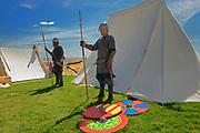 Viking Encampment during the Icelandic Festival<br />Gimli<br />Manitoba<br />Canada