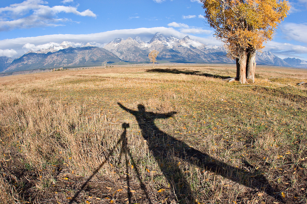Self portrait while photographing in Grand Teton National Park, WY