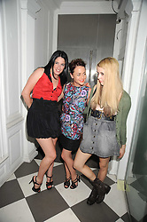Left to right, AMY MOLYNEAUX, JAIME WINSTONE and PEACHES GELDOF at the PPQ of Mayfair Summer Party at 47 Conduit Street, London on 30th July 2008.<br /> <br /> NON EXCLUSIVE - WORLD RIGHTS