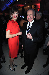 KATIE DERHAM and ALASTAIR STEWART at the Costa Book Awards 2009 held at Quaglino's, 16 Bury Street, London SW1 on 26th January 2010.