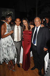 Left to right, NAOMI CAMPBELL, LEWIS HAMILTON, ROSARIO DAWSON and PHILIP GREEN at the 10th annual GQ Men of the Year Awards held at the Royal Opera House, Covent Garden, London on 4th September 2007.<br /><br />NON EXCLUSIVE - WORLD RIGHTS