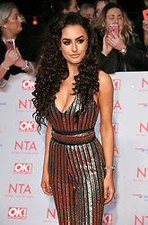 Amber Davies attending the National Television Awards 2018 held at the O2, London. Photo credit should read: Doug Peters/EMPICS Entertainment