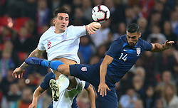 November 15, 2018 - London, United Kingdom - L-R England's Lewis Dunk and Jorge Villafana of USA .during the friendly soccer match between England and USA at the Wembley Stadium in London, England, on 15 November 2018. (Credit Image: © Action Foto Sport/NurPhoto via ZUMA Press)