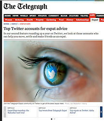 The Telegraph; Twitter logo reflected in eye