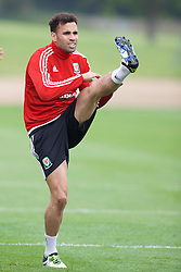 CARDIFF, WALES - Saturday, June 4, 2016: Wales' Hal Robson-Kanu during a training session at the Vale Resort Hotel ahead of the International Friendly match against Sweden. (Pic by David Rawcliffe/Propaganda)