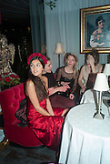 MADDIE MILLS, Pete & Carolina Tong and Yasmin Mills Christmas Party. Baroque, The Playboy Club, Old Park Lane, London. 15 December 2012.