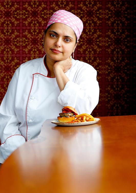Portrait of Chef Maneet Chauhan.  Photo by Donn Jones.