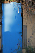 Blue iron door