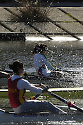 Seville. SPAIN, 18.02.2007,  LW2X, MEX , and ESP, competing in Sundays final, at the FISA Team Cup, held on the River Guadalquiver course. [Photo Peter Spurrier/Intersport Images]    [Mandatory Credit, Peter Spurier/ Intersport Images]. , Rowing Course: Rio Guadalquiver Rowing Course, Seville, SPAIN,