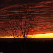 Lake Michigan Fall Sunset