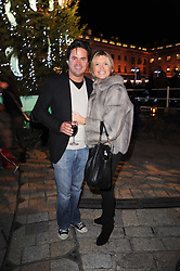 TINA HOBLEY and OLIVER WHEELER at a Winter Party given by Tiffany & Co. Europe to launch the 10th season of Somerset House's Ice Skating Rink at Somerset House, The  Strand, London on 16th November 2009.