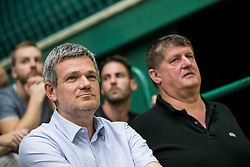 Tomaz Berlocnik, president of Petrol Olimpija and Roman Lisac, director of Petrol Olimpija during basketball match between KK Krka Novo mesto and  KK Petrol Olimpija in 4th Final game of Liga Nova KBM za prvaka 2017/18, on May 27, 2018 in Sports hall Leona Stuklja, Novo mesto, Slovenia. Photo by Vid Ponikvar / Sportida