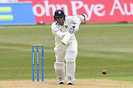 Chris Rushworth of Durham batting during the LV= Insurance County Championship match between Nottinghamshire County Cricket Club and Durham County Cricket Club at Trent Bridge, Nottingham, United Kingdom on 9 April 2021.