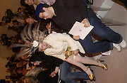 Isabella Blow and Halouk, Chanel couture show, Paris 20 January 2004. © Copyright Photograph by Dafydd Jones 66 Stockwell Park Rd. London SW9 0DA Tel 020 7733 0108 www.dafjones.com