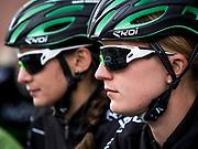 Bernard Hinault coach des cyclistes du team SKODA  amateur  pour participer a l'étape du tour quelques jours avant le tours de France 2017