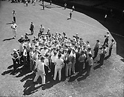 "Ackroyd 00064-5. ""Portland Baseball Club – Boys class. August 19, 1947."" Vaughn St. Stadium, Portland Beavers,"