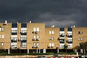 Israeli Housing complex built in the 1950s to house Jewish immigrants. Kfar Yona, Israel