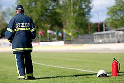 Firefighter during FIM Speedway World Cup Qualifying round 2 for team's Slovenia, Italy, USA and Ukraine, on May 5, 2012, in Sportni park Ilirije, Ljubljana, Slovenia. (Photo by Urban Urbanc / Sportida)