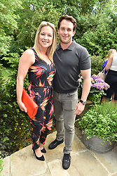 Gemma Bissix and Kristian Rose at the opening of The Ivy Cobham Brasserie, Cobham, Surrey, England. 31 May 2017.