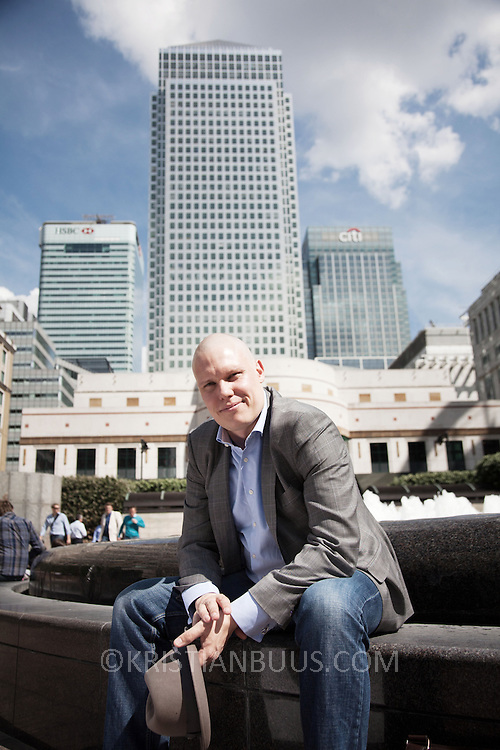 Thomas Kejser IT-specialist, photographed in Canary Wharf, London.
