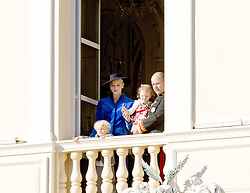 November 19, 2017 - Monte Carlo, MONACO - 19-11-2017 Monaco Princess Charlene of Monaco with Prince Jacques of Monaco and Prince Albert II of Monaco with Princess Gabriella of during the Monaco National Day Celebrations in Monaco...© PPE/NieboerCredit: PPE/face to face.- No rights for the Netherlands  (Credit Image: © face to face via ZUMA Press)