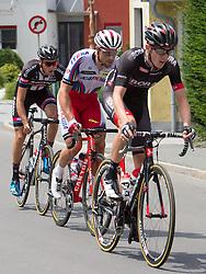 28.06.2015, Güssing, AUT, Rad Strassen Staatsmeisterschaft Elite Herren, 2015, Güssing, Burgenland im Bild v.l. Georg Preidler, Team Giant Alpecin, Marco Haller, Team Katusha, Patrick Konrad, Team Bora Argon // f.l. Georg Preidler, Team Giant Alpecin, Marco Haller, Team Katusha, Patrick Konrad, Team Bora Argon during cycling road championship, Güssing, Burgenland at 2015/06/28. EXPA Pictures © 2015, PhotoCredit: EXPA/ R. Eisenbauer