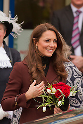 © Licensed to London News Pictures. 14/02/2012. Liverpool, UK. The Duchess of Cambridge leaves Alder Hey Hospital. Photo credit : Ashley Hugo/LNP