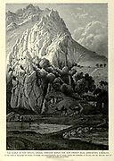 Engraving on Wood of The Gorge of the Burada (Abana), through which the new French road approaches Damascus from Picturesque Palestine, Sinai and Egypt by Wilson, Charles William, Sir, 1836-1905; Lane-Poole, Stanley, 1854-1931 Volume 2. Published in New York by D. Appleton in 1881-1884