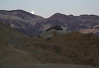 Full moon setting over the Panamint Mountains, Death Valley National Park, California