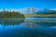 Pyramid Mountain and Pyramid Lake <br />Jasper National PArk<br />Alberta<br />Canada